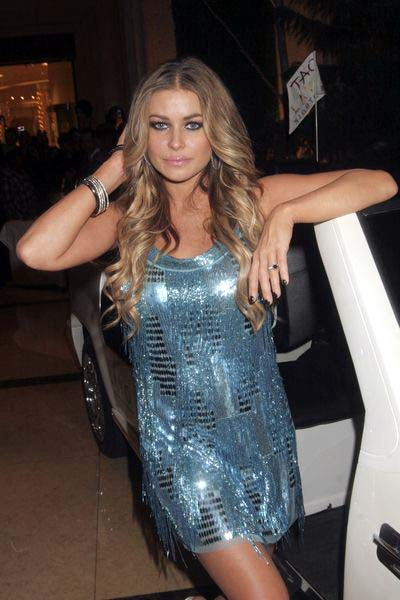 Carmen Electra at New Year's Eve Celebration Hosted by Fergie and Carmen Electra at  Lavo Nightclub at the Palazzo Hotel and Casino, Las Vegas, NV, USA