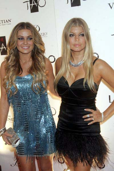 Carmen Electra, Fergie at New Year's Eve Celebration Hosted by Fergie and Carmen Electra at  Lavo Nightclub at the Palazzo Hotel and Casino, Las Vegas, NV, USA
