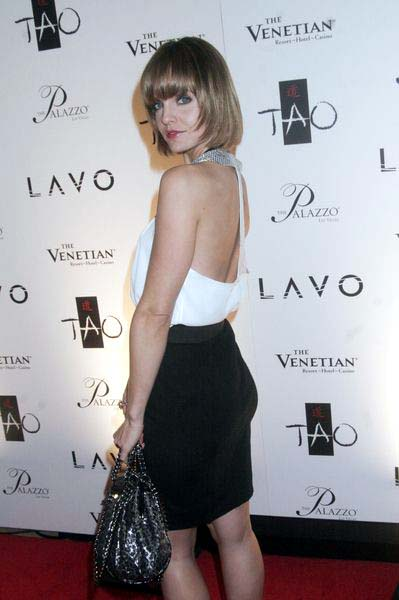 Mena Suvari at New Year's Eve Celebration Hosted by Fergie and Carmen Electra at  Lavo Nightclub at the Palazzo Hotel and Casino, Las Vegas, NV, USA