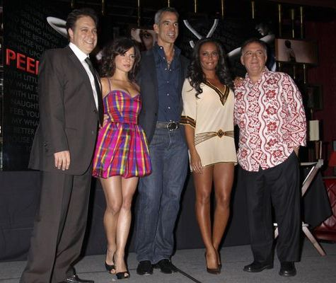 Robert Earl, Scott Zeiger, Kelly Monaco, Jerry Mitchell, Melanie Brown at 'Peepshow' at Strip House at Planet Hollywood Las Vegas - Press Conference - Strip House at Planet Hollywood Hotel and Casino, Las Vegas, NV, USA
