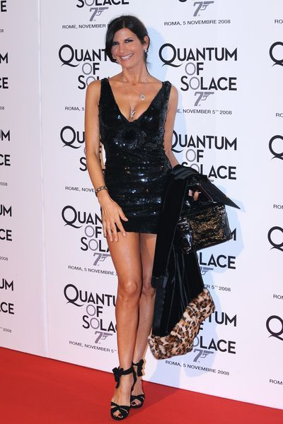 Pamela Prati at 'Quantum of Solace' Rome Premiere at Warner Cinema, Piazza della Repubblica, Rome, Italy