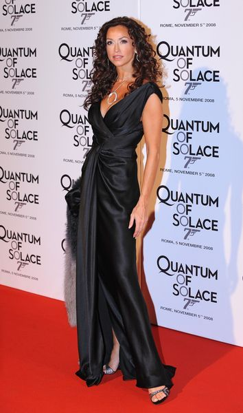 Sofia Milos at 'Quantum of Solace' Rome Premiere at Warner Cinema, Piazza della Repubblica, Rome, Italy