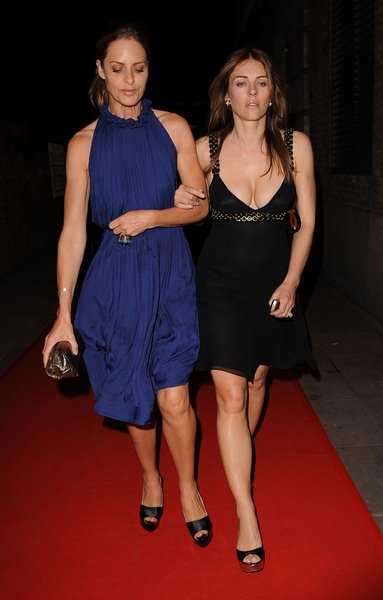 Trinny Woodall, Elizabeth Hurley at RD Crusaders in Concert to Benefit the Marie Curie Cancer Hospital at Old Billingsgate Fish Market on May 8, 2008, London, England