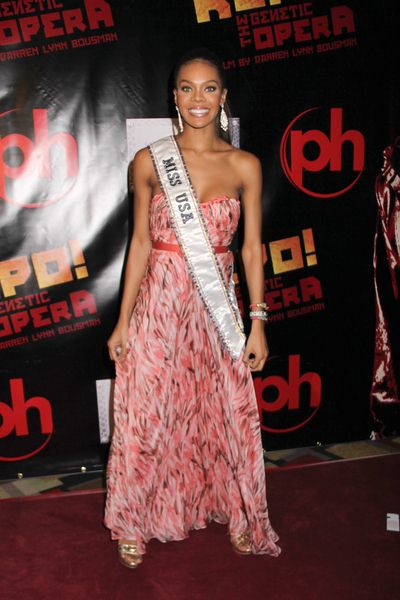 Crystle Stewart (Miss USA 2008) at 'Repo! The Genetic Opera' Las Vegas Premiere at The Mezz Showroom at Planet Hollywood Hotel and Casino, Las Vegas, NV, USA