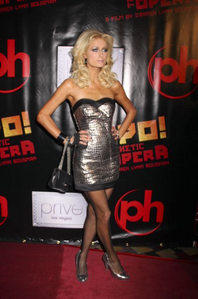 Paris Hilton at 'Repo! The Genetic Opera' Las Vegas Premiere at The Mezz Showroom at Planet Hollywood Hotel and Casino, Las Vegas, NV, USA