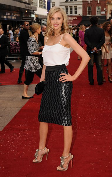 Donna Air at 'Sex and the City: The Movie' London Premiere - Arrivals at Leicester Square, London, England