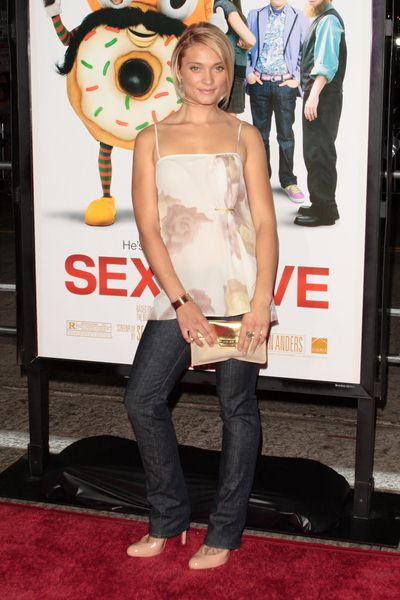 Spencer Grammer at 'Sex Drive' Los Angeles Premiere - Arrivals at Mann Village Theatre, Westwood, CA, USA