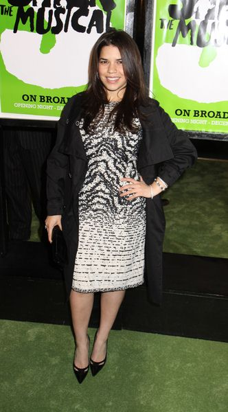 America Ferrera at 'Shrek The Musical' Broadway Opening Night at Broadway Theatre in New York City, NY, USA