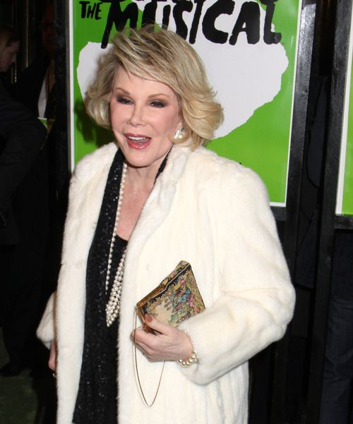 Joan Rivers at 'Shrek The Musical' Broadway Opening Night at Broadway Theatre in New York City, NY, USA