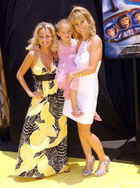 Kristin Chenoweth, Cheryl Hines with daughter Catherine at 'Space Chimps' Los Angeles Premiere - Fox Studios/ Zanuck Theater, Los Angeles, CA. USA