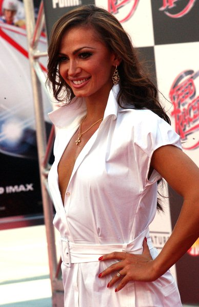Karina Smirnoff at 'Speed Racer' World Premiere - Arrivals - Nokia Theater, Los Angeles, CA. USA