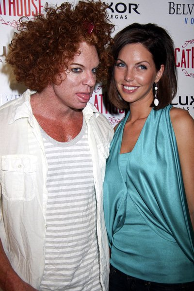Carrot Top, Julie McQueen at Stacy Keibler Hosts an Evening at CatHouse at Luxor in Las Vegas on May 2, 2008 at CatHouse at the Luxor Hotel and Casino, Las Vegas, NV, USA