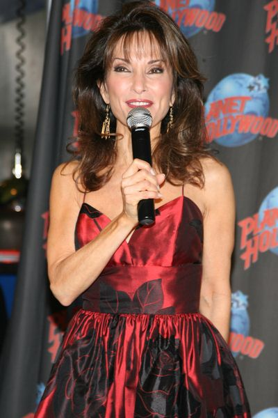 Susan Lucci at Susan Lucci Appearance and Handprint Ceremony at Planet Hollywood Times Square, 1540 Broadway, New York City, NY, USA