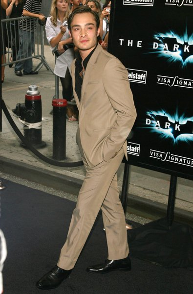 Ed Westwick at 'The Dark Knight' World Premiere - Arrivals at AMC Loews Lincoln Square, 68th Street and Broadway, New York City, NY, USA