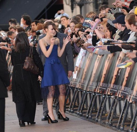Keira Knightley at 'The Duchess' London Premiere at Leicester Square, London, UK
