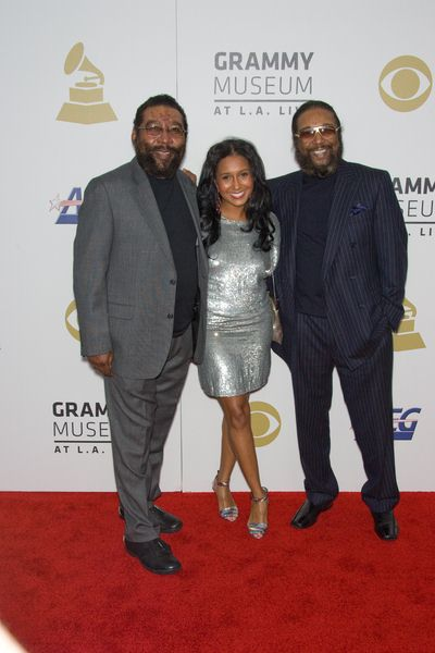 Brian Holland, Fellisa Mirasol, Eddie Holland at The Grammy Nominations Concert Live - NOKIA Plaza at L.A. Live, Los Angeles, CA USA