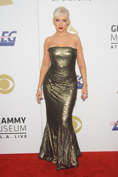 Christiana Aguilera at The Grammy Nominations Concert Live - NOKIA Plaza at L.A. Live, Los Angeles, CA USA