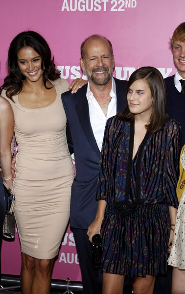 Bruce Willis, Emma Heming at 'The House Bunny' Los Angeles Premiere - Arrivals at Mann Village Theater, Westwood, CA, USA