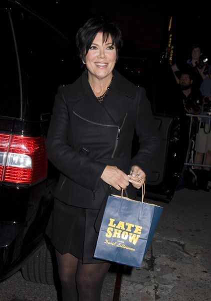 Kris Jenner at The Late Show with David Letterman on August 25, 2008 at Ed Sullivan Theatre, New York City, NY, USA