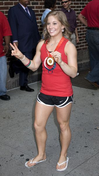 Shawn Johnson at The Late Show with David Letterman on August 25, 2008 at Ed Sullivan Theatre, New York City, NY, USA