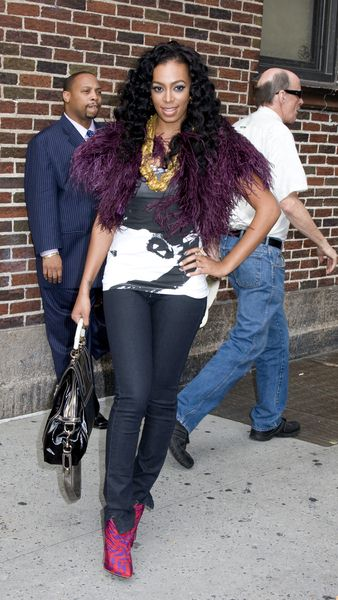 Solange Knowles at The Late Show with David Letterman on August 25, 2008 at Ed Sullivan Theatre, New York City, NY, USA