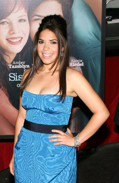 America Ferrera at 'The Sisterhood of the Traveling Pants 2' New York City Premiere at Ziegfeld Theatre, 141 West 54th Street, New York City, NY, USA