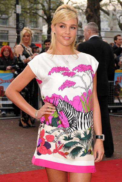 Danielle Lloyd at 'Three and Out' London Premiere - Red Carpet Arrivals, Odeon Leicester Square, London, England