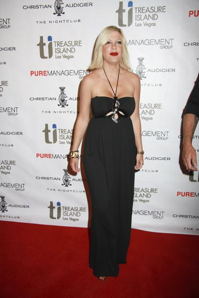 Tori Spelling at Tori Spelling Hosts an Evening at Christian Audigier The Nightclub at the Treasure Island Hotel and Casino in Las Vegas, NV, USA
