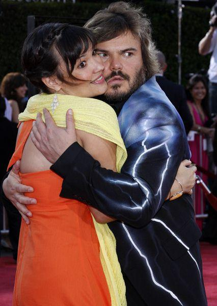 Jack Black, Tanya Haden at 'Tropic Thunder' Los Angeles Premiere - Arrivals at Mann Village Theater, Westwood, CA, USA