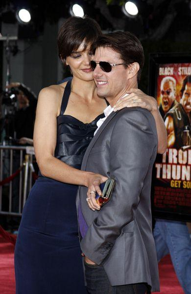 Tom Cruise, Katie Holmes at 'Tropic Thunder' Los Angeles Premiere - Arrivals at Mann Village Theater, Westwood, CA, USA