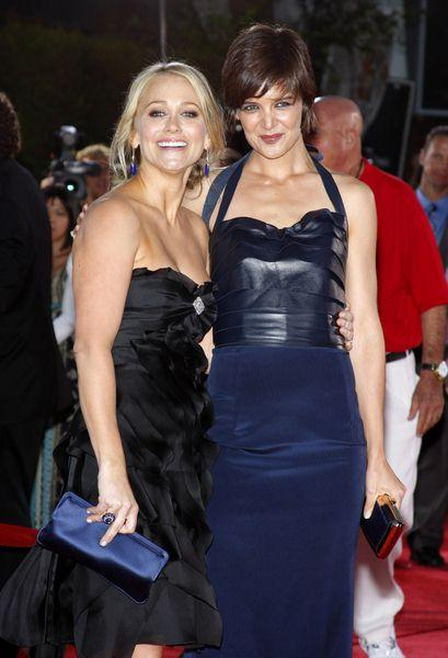 Katie Holmes, Christine Taylor at 'Tropic Thunder' Los Angeles Premiere - Arrivals at Mann Village Theater, Westwood, CA, USA