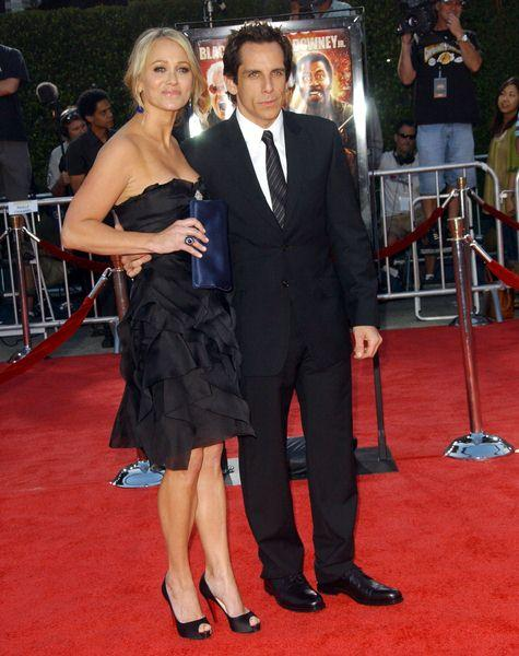 Christine Taylor, Ben Stiller at 'Tropic Thunder' Los Angeles Premiere - Arrivals at Mann Village Theater, Westwood, CA, USA
