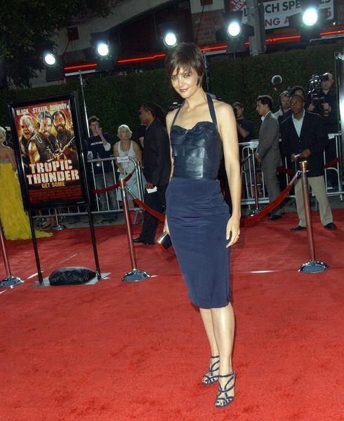 Katie Holmes at 'Tropic Thunder' Los Angeles Premiere - Arrivals at Mann Village Theater, Westwood, CA, USA