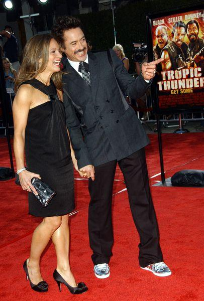 Robert Downey Jr.,Susan (wife) at 'Tropic Thunder' Los Angeles Premiere - Arrivals at Mann Village Theater, Westwood, CA, USA