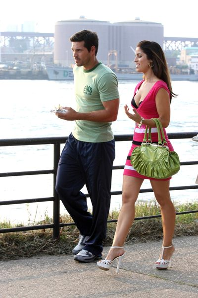 Ana Ortiz, Eddie Cibrian at 'Ugly Betty' Filming in Queens, New York City, NY, USA