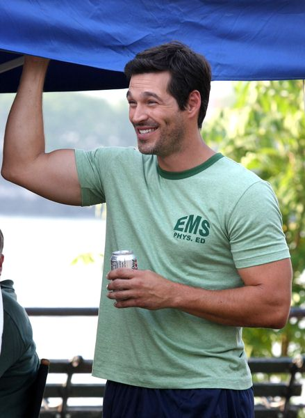 Eddie Cibrian at 'Ugly Betty' Filming in Queens, New York City, NY, USA