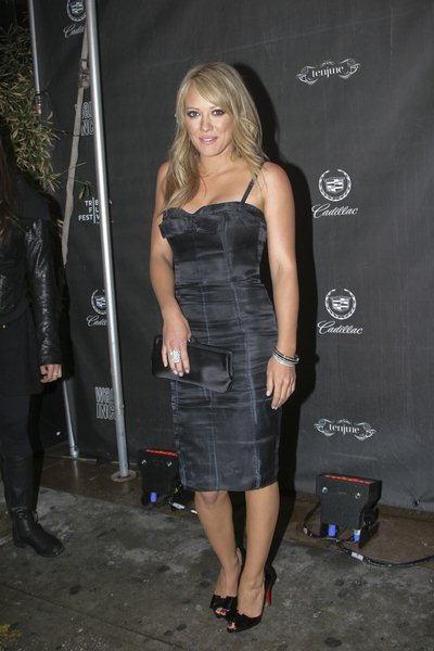 Hilary Duff at 'War, Inc.' New York City Premiere After Party - Arrivals at Tenjune Nightclub, New York City, NY, USA
