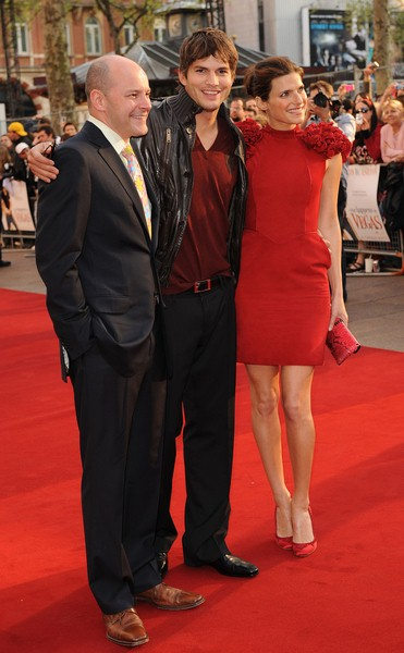 Tom Vaughan, Ashton Kutcher,Lake Bell at 'What Happens in Vegas...' London Premiere - Arrivals - Odeon in Leicester Square, London, England
