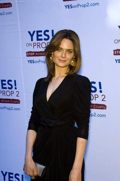 Emily Deschanel at Yes on Prop 2 Benefit at Private Residence in Westwood, CA, USA