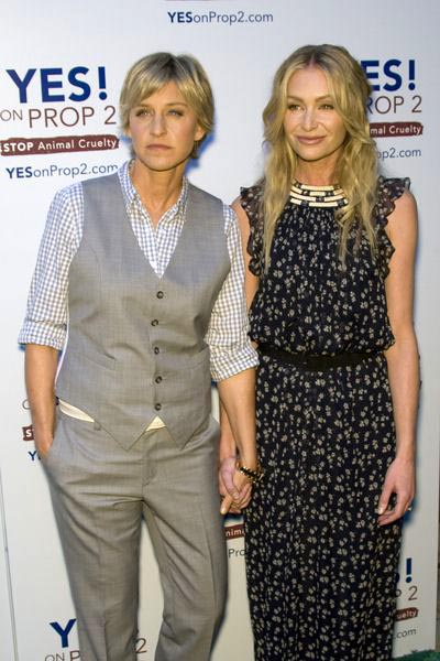 Ellen Degeneres, Portia de Rossi at Yes on Prop 2 Benefit at Private Residence in Westwood, CA, USA