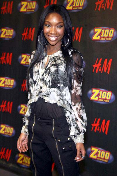 Brandy at Z100's Jingle Ball 2008 at Madison Square Garden, 4 Penn Plaza at 34th Street, New York City, NY, USA