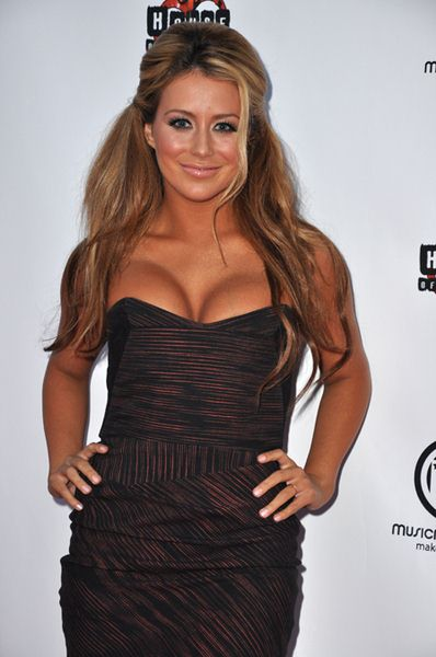 Aubrey O'Day at 1st Annual MusicMogul Music Competition Hosted by Jason Kennedy at the House of Blues in Hollywood, CA, USA