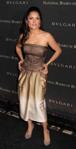 Salma Hayek at 2008 National Board of Review of Motion Pictures Awards Gala - Cipriani's, New York City, NY, USA