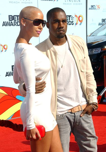Amber Rose, Kanye West at 2009 BET Awards - Arrivals - The Shrine Auditorium, Los Angeles, CA. USA
