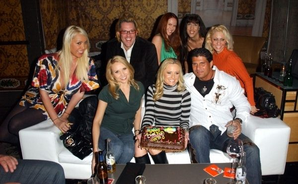 Mary Carey, Ford Austin, Lisa Cash, DeeDee Bigelow, Jamie McCall, Alana Curry, Katie Lohmann, Jose Conseco at 2009 Birthday Party For Katie Lohmann at SBar, Hollywood, CA. USA