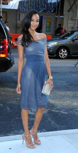 Zoe Saldana at 2009 CFDA Fashion Awards at Alice Tully Hall, Lincoln Center, New York City, NY, USA