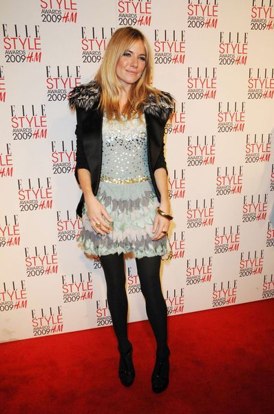 Sienna Miller at 2009 Elle Style Awards - Big Sky Studios, London, UK