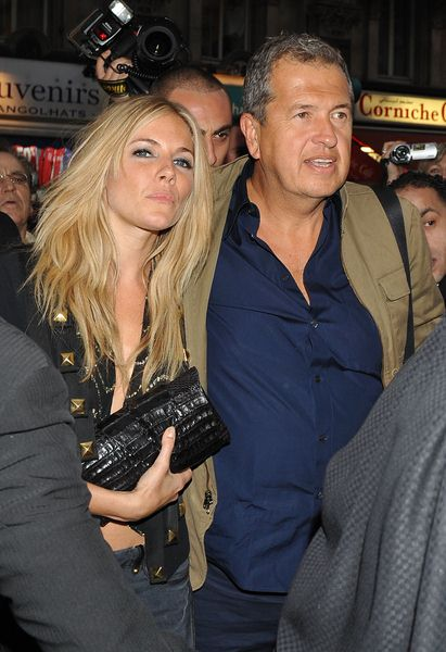 Sienna Miller, Mario Testino at 2009 'Hoping's Got Talent' - Cafe De Paris, Leicester Square, London, UK