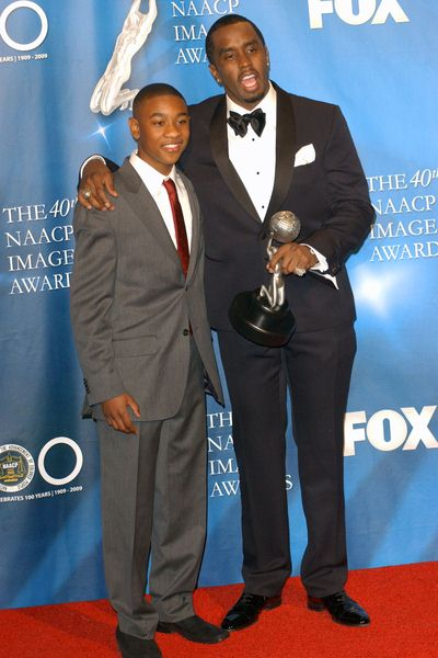 Justin Martin, Sean Combs at 40th NAACP Image Awards - The Shrine Auditorium, Los Angeles, CA. USA