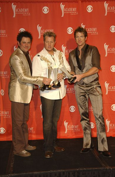 Rascal Flatts (Jay DeMarcus, Gary DeVox, Joe Don Rooney) at 44th Annual Academy of Country Music Awards - Press Room - MGM Grand Garden Arena, Las Vegas, NV. USA